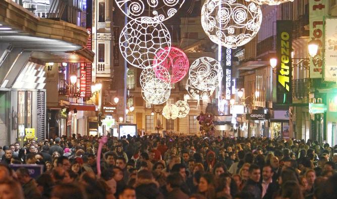 Espectáculo de luz y color en Madrid