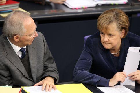 Bundestag Merkel Schäuble
