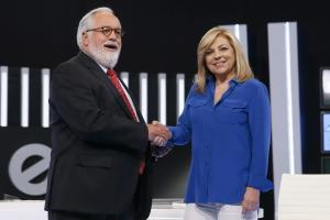 """Spaniens konservativer Spitzenkandidat Miguel Arias Cañete über sein Fernsehduell mit der Sozialistin Elena Valenciano: """"Wenn der Mann seine intellektuelle Überlegenheit ausspielt, dann sieht es so aus, als sei er ein Macho, der eine wehrlose Frau in die Enge treibt"""""""