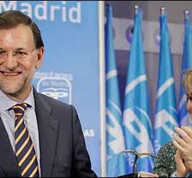 Mariano Rajoy y Esperanza Aguirre.