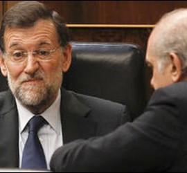 Mariano Rajoy y Jorge Fernández Díaz.