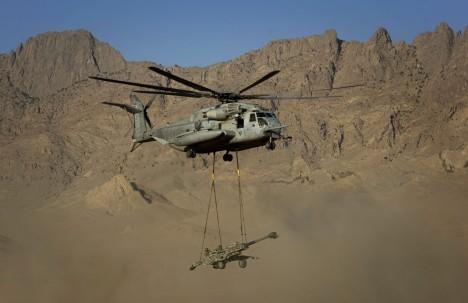 Un helicóptero estadounidense en la provincia afgana de Farah / AFP