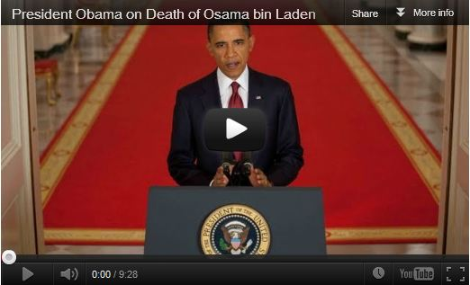 President Obama on the death of Osama bin Laden