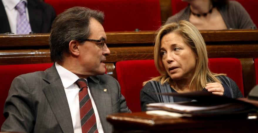 Artur Mas y la vicepresidenta de la Generalitat, Joana Ortega.