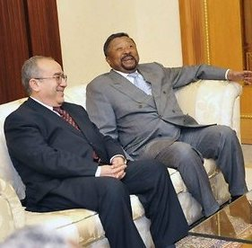 AU Commissioner for Peace and Security Ramtane Lamamra and African Commission chief Jean Ping