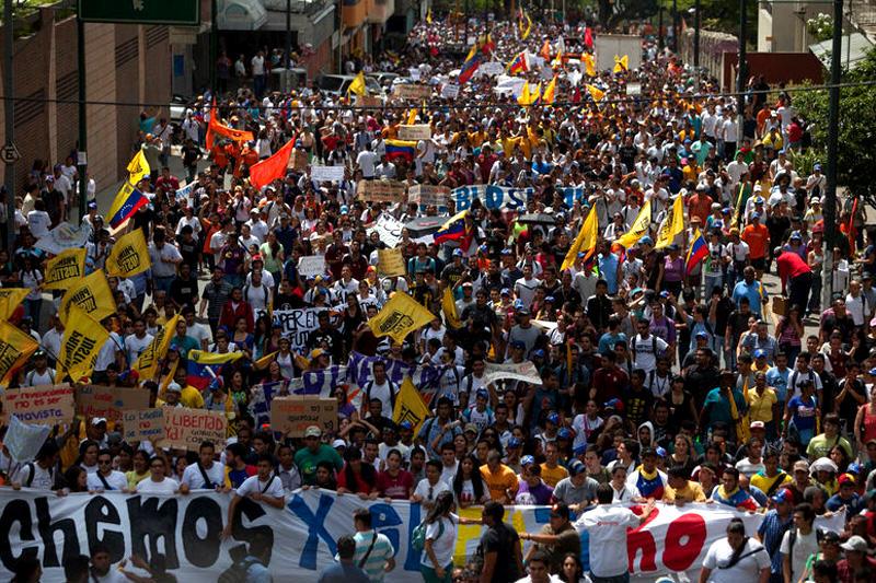 Protestas en Venezuela Caracas